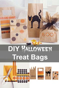 How to make DIY Halloween trick-or-treat bags