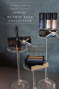 High-dimension makeup inspired by modern metallics. Meet our new limited-edition† Mary Kay® Runway Bold Collection!
