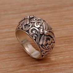 Shop unique, award-winning Artisan treasures by NOVICA, the Impact Marketplace. Avery Jewelry, Funky Jewelry, Metal Jewelry, Unique Jewelry, Silver Ring Designs, Gold And Silver Rings, Unique Rings, Jewelry Collection, Jewelry Design