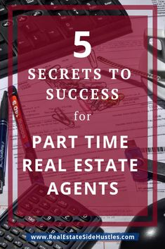 5 Secrets to Success as a Part-Time Real Estate AgentReal Estate Side Hustles Can you be successful in real estate as a part-time real estate agent? It's certainly not easy. But if you're willing to try, we've got 5 tips to help! Real Estate Career, Real Estate Leads, Real Estate Business, Selling Real Estate, Local Real Estate, Real Estate Tips, Real Estate Broker, Real Estate Sales, Real Estate Investing