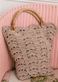 Leafy shopping bag - free #crochet pattern