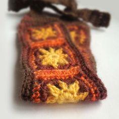Crochet Headband, Boho Knit Hairband, Mohair, Wool Mix in Rust Orange, Yellow, Gray, Dark Plum Purple