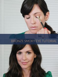 Easy bronze smoky eye tutorial