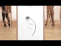 Beautiful stop motion video of a class drawing a nude female model