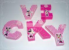 Letras corpóreas de papel - Minnie Mouse
