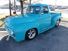 1955 Ford Restomod,swb,pro Touring,ls Motor - Used Ford Other Pickups for sale in Tulsa, Oklahoma 1956 Ford Truck, Old Ford Trucks, Old Pickup Trucks, New Trucks, Custom Trucks, Lifted Chevy Trucks, Hot Rod Trucks, Cool Trucks, Car Tv Shows