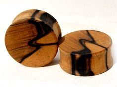 lovely wood plugs!