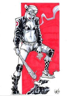 dsc Tank Girl by snareser Girl Artist, Art Girl, Tank Girl Cosplay, Tank Girl Comic, Jamie Hewlett Art, Arte Punk, Science Fiction, Pulp Fiction, Arte Horror