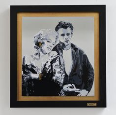 MM&JD (Marilyn Monroe&James Dean)  pintura sobre acero inoxidable
