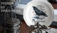 Dishes of Darkness: Pottery Barn Inspired Halloween Plates - The Navage Patch