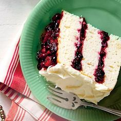 White Cake With Cranberry Filling and Orange Buttercream - MyRecipes