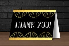 HEY THERE!  Our 1920s Printable Black and Gold Foil Thank You Cards are a perfect way to thank your guests for a Roaring good time at your 1920s Theme Party including; A New Years Eve Bash or 30th Birthday Party! They can be easily printed using a standard desktop printer on 8.5 x 11 (letter size) paper, or can be printed at your local print shop such as Staples or Kinkos. Your purchase includes easy assembly instructions, and a high-quality printable PDF file.  Please note: This listing is…