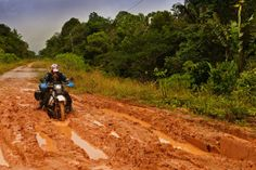 Photo by Claudia Sabel, of Werner Steffens Germany, riding the mud on the BR 319 from Porto Vehlo to Manaus Brasil, on our SA trip, Trail Motorcycle, Motorcycle Travel, Off Road Adventure, Adventure Travel, Journey Tattoo, Photo Contest, Mud, Touring, Places To Go
