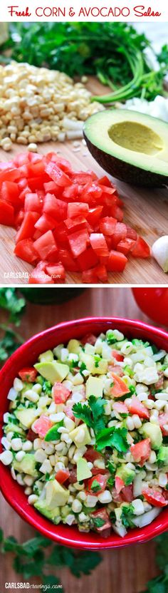 Easy,fresh and delicious enough to eat plain! I was literally eating this with a fork! Also so good with chips, on tacos, eggs, chicken, etc.