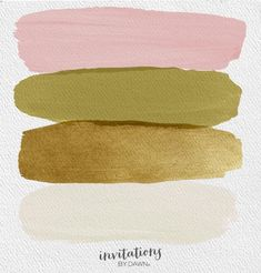The Perfect Palette: Blush, Olive, Gold and Ecru - bedroom color schemes Blush Color Palette, Color Schemes Colour Palettes, Color Combos, Gold Color Scheme, Gold Palette, Spring Colors, Room Colors, Colours, Colorful Decor