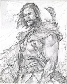 John Carter by Iain McCaig, in Robert Jewell& Adventurers Comic Art Gallery Room Comic Books Art, Comic Art, Book Art, Storyboard, Art Sketches, Art Drawings, Character Art, Character Design, John Carter Of Mars