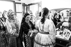 If you happen to be in Olympos village of Karpathos island during August, you might be lucky enough to see a traditional wedding taking place. I was able to see both a wedding and an engagement. Karpathos, Traditional Wedding, Old Photos, Greece, Nostalgia, Old Pictures, Greece Country, Vintage Photos