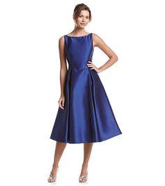 Adrianna papell floral tea length dress bergner 39 s for Elder beerman wedding dresses