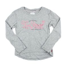 Levi's for girls, Levi's t-shirt, grey t-shirt, long sleeved t-shirt