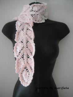 crochet pineapple scarf pattern pdf nr 31 by by crochettutorial, $3.99