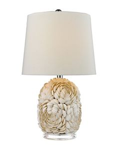 Spotted this 23in Natural Shell Table Lamp on Rue La La. Shop (quickly!).