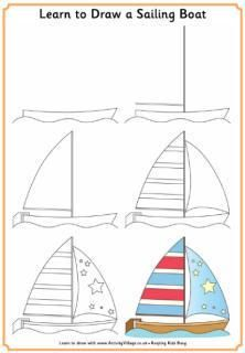 Learn to Draw steps for kids: FREE printables!
