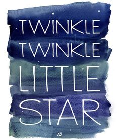 Twinkle twinkle little star. cute diy art for the baby nursery. Free Printable Art, Free Printables, Free Prints, Wall Prints, Reproductions Murales, Ideas Habitaciones, Twinkle Twinkle Little Star, Kid Spaces, Clipart