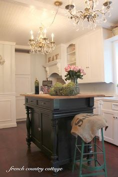 French Country Cottage Kitchens | FRENCH COUNTRY COTTAGE: French Cottage Kitchen ~ Little Peek