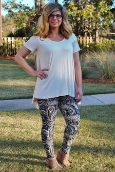 Brushed Paisley Print Leggings