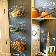 21 Inspiring Ways To Use Chalkboard Paint On a #Kitchen #diy #diycrafts