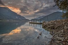 Popular on 500px : Sunrise in Ledro lake  Italy by BassemElyoussef