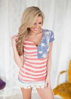 Online boutique. Best outfits. Fire Works Top - Modern Vintage Boutique