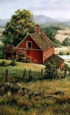 ART~ The Little House At The Foot Of The Hill~
