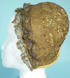 antique metallic hat