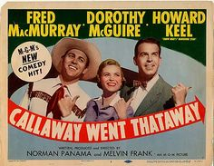 Callaway Went Thataway (1951) is a classic comedy about TV's influence on movies. link