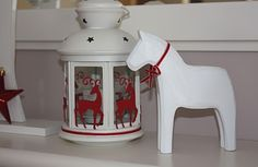 Winter White Dala Horse