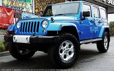 """Adventure in style this summer in the capable and comfortable Jeep Wrangler Unlimited Sahara, lifted with 35"""" off-road tires. #buriensbest #jeep #jeeplife #liftedjeep"""