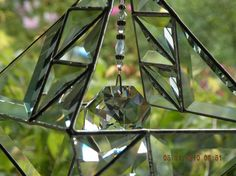 Double stained glass pyramid with clear beveled by ravenglassgirl