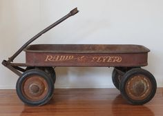 Vintage 1950s Radio Flyer Wagon // Firestone Wheels // by MyBarn