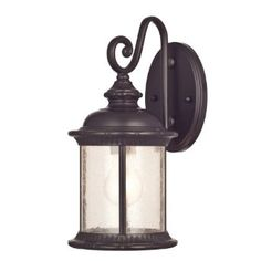 Westinghouse 6230600 New Haven One-Light Exterior Wall Lantern on Steel with Clear Seeded Glass, Oil Rubbed Bronze Finish - Wall Porch Lights - Amazon.com