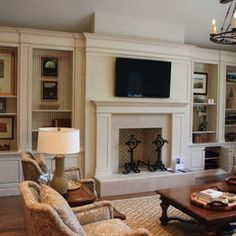 7 Terrific Simple Ideas: Small Living Room Remodel Tips living room remodel rustic wood beams.Small Living Room Remodel On A Budget. Home, Room Remodeling, Fireplace Design, Bookcase Design, Furniture Layout, Living Room Designs, Traditional Design Living Room, Living Room Remodel, Fireplace Built Ins