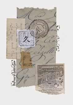 Idea- using antique journal pages, painting miniature of bird or scene