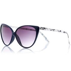 Navy snake arm cat eye sunglasses $20.00