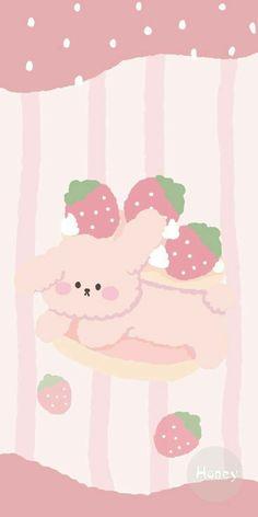 Soft Pink korean bear wallpaper !