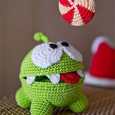 Crochet a Cut the Rope Amigurumi! Crochet a Cut the Rope Amigurumi! Crochet Kawaii, Crochet Diy, Crochet Crafts, Crochet Patterns Amigurumi, Amigurumi Doll, Crochet Dolls, Knitting Patterns, Amigurumi Tutorial, Yarn Projects