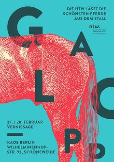GALOPP – Abschlussarbeiten der HTW Berlin | Slanted - Typo Weblog und Magazin, via jennifer lea