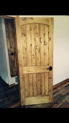 ❤️my doors❤️ Knotty pine doors with Minwax Early American stain