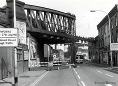 The demolition of Northgate Street bridge, Leicester, in July Photo from Leicester Mercury Steam Railway, Historical Photos, Bridges, Old Photos, Walks, Birth, England, History, Historia