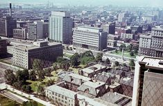 View from the observation deck of City Hall Landscape Photos, Toronto, 1960s, Past, Nostalgia, Multi Story Building, Old Things, Evening Sandals, Stanley Cup