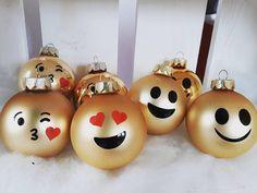 Adventskalenderfüllungen - Weihnachtskugeln Dekokugel Christbaumkugel Emoji - ein Designerstück von FilzIn bei DaWanda